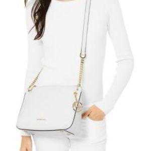 NWT Michael Kors Lillie Large white Messenger Bag